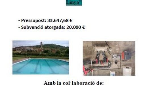 Millora dels sistemes de cloració de les piscines de Santa Linya i Vilanova de la Sal