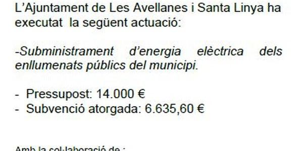 Programa d'arrendaments i subministraments Diputació de Lleida 2018